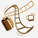 Vector il filmstrip (path*) Immagine Stock