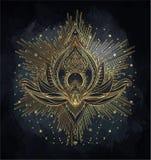 Vector il fiore di Lotus ornamentale, l'arte etnica, pai indiano modellato royalty illustrazione gratis