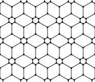 Vector il fiore sacro senza cuciture moderno del modello della geometria di vita, estratto in bianco e nero illustrazione di stock