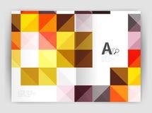 Vector il fondo astratto minimalistic quadrato, l'opuscolo a4 di affari del modello della stampa Immagine Stock