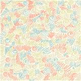 Vector il fondo astratto variopinto di doodle. Immagine Stock