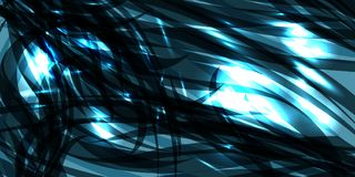 Vector il fondo azzurrato cosmico d'ardore delle linee del metallo del cobalto illustrazione vettoriale