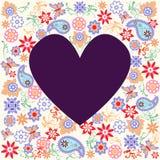 Vector il fondo con la farfalla ed il fiore - illustrazione Immagini Stock Libere da Diritti