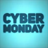 Vector il fondo cyber di vendita di lunedì con i punti brillanti Vector l'illustrazione su fondo vago di colore blu e ciano illustrazione vettoriale
