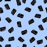 Vector il fondo dei bottoni neri con l'alfabeto inglese Reticolo senza giunte Fotografia Stock Libera da Diritti