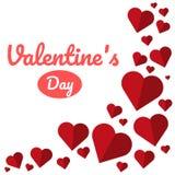 Vector il fondo del giorno di Valentine's dell'illustrazione con cuore sveglio Fotografia Stock