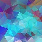 Vector il fondo del poligono con il modello irregolare di tessellations - progettazione triangolare nei colori al neon Fotografia Stock