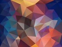 Vector il fondo del poligono con un modello del triangolo nello spettro di colore pieno e del blu Fotografia Stock