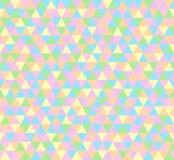 Vector il fondo del triangolo, modello senza cuciture nei colori pastelli illustrazione di stock