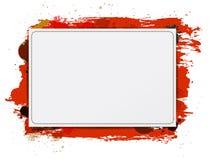 Vector il fondo di carta dell'insegna con pittura grungy rossa royalty illustrazione gratis