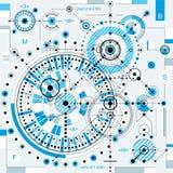 Vector il fondo di ingegneria e di industriale, p tecnica futura Fotografia Stock Libera da Diritti