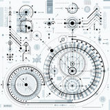 Vector il fondo di ingegneria e di industriale, p tecnica futura illustrazione vettoriale