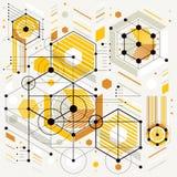 Vector il fondo di ingegneria e di industriale, piano tecnico futuro illustrazione di stock