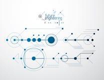 Vector il fondo di ingegneria e di industriale, p tecnica futura royalty illustrazione gratis