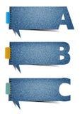 Vector il fondo di struttura dei jeans delle presentazioni, con le lettere dell'alfabeto illustrazione vettoriale
