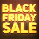 Vector il fondo di vendita di Black Friday con i punti brillanti come l'insegna al neon Illustrazione di vettore su fondo arancio Fotografia Stock Libera da Diritti