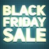 Vector il fondo di vendita di Black Friday con i punti brillanti come l'insegna al neon Illustrazione di vettore su fondo arancio Fotografie Stock Libere da Diritti