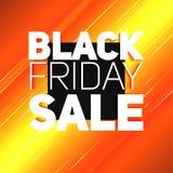 Vector il fondo di vendita di Black Friday con il raggio brillante di energia Illustrazione di vettore su fondo arancione-chiaro Immagine Stock Libera da Diritti