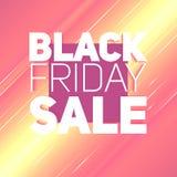 Vector il fondo di vendita di Black Friday con il raggio brillante di energia Illustrazione di vettore su fondo arancione-chiaro Fotografie Stock
