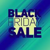 Vector il fondo di vendita di Black Friday con il raggio brillante di energia Illustrazione di vettore su fondo verde chiaro Fotografia Stock Libera da Diritti