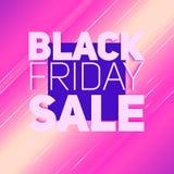 Vector il fondo di vendita di Black Friday con il raggio brillante di energia Illustrazione di vettore su fondo violetto-chiaro Fotografia Stock Libera da Diritti