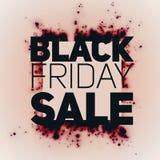 Vector il fondo di vendita di Black Friday con lo scoppio brillante delle scintille rosso scuro Illustrazione di vettore su fondo Fotografia Stock