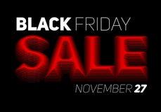 Vector il fondo di vendita di Black Friday con testo colorato semitono Fotografie Stock Libere da Diritti