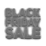 Vector il fondo di vendita di Black Friday con testo delle bande impresse Fotografia Stock Libera da Diritti