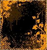 Vector il fondo floreale della struttura nello stile di lerciume per la vostra progettazione Fotografia Stock Libera da Diritti