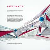Vector il fondo geometrico astratto, illustrati tecnico di stile Immagini Stock