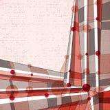 Vector il fondo geometrico astratto, illustrazione moderna di stile Fotografia Stock Libera da Diritti