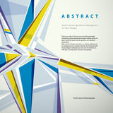 Vector il fondo geometrico astratto, illustrazione moderna di stile Fotografie Stock Libere da Diritti