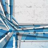 Vector il fondo geometrico astratto, illustrazione moderna di stile Immagine Stock Libera da Diritti