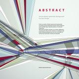 Vector il fondo geometrico astratto, illustrazione techna di stile Immagine Stock Libera da Diritti