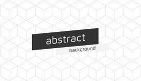 Vector il fondo isometrico dei cubi astratti con spazio per testo Fotografie Stock Libere da Diritti