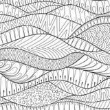 Vector il fondo monocromatico della banda disegnata a mano, ornamento del profilo royalty illustrazione gratis