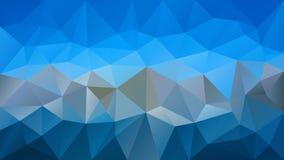 Vector il fondo poligonale irregolare - modello basso del triangolo poli - cielo leggero e colore grigio scuro Immagine Stock