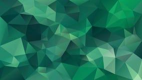 Vector il fondo poligonale irregolare - modello basso del triangolo poli - colore verde medio Immagine Stock Libera da Diritti