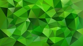 Vector il fondo quadrato poligonale irregolare - modello basso del triangolo poli - colore di verde smeraldo vibrante Immagine Stock