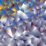 Vector il fondo quadrato poligonale irregolare - modello basso del triangolo poli - oro, argento, giallo, porpora e b olografici immagini stock libere da diritti