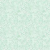 Vector il fondo senza cuciture del modello di ripetizione della menta di verde delle rose pastelli delicate del pizzo Grande per  Fotografia Stock Libera da Diritti