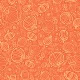 Vector il fondo senza cuciture del modello di ripetizione di struttura arancio delle zucche Fotografie Stock
