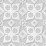 Vector il fondo senza cuciture 115 Diamond Check Flower del modello di arte della carta 3D del damasco Immagine Stock Libera da Diritti