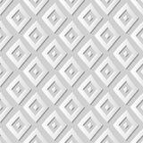 Vector il fondo senza cuciture 373 Diamond Check Geometry del modello di arte della carta 3D del damasco Immagini Stock