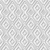 Vector il fondo senza cuciture 256 Dot Line Cross Check del modello di arte della carta 3D del damasco Immagini Stock Libere da Diritti