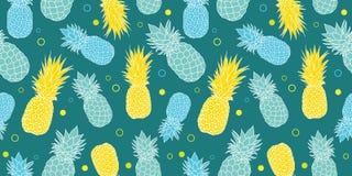 Vector il fondo senza cuciture tropicale del modello dell'estate verde scuro, blu e gialla Grande come stampa del tessuto, partit Fotografia Stock