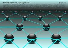 Vector il fondo variopinto astratto con la palla 3d nel colore blu Fotografie Stock