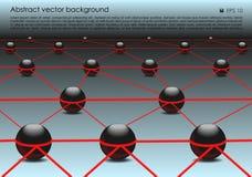 Vector il fondo variopinto astratto con la palla 3d nel colore rosso Immagine Stock Libera da Diritti