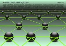 Vector il fondo variopinto astratto con la palla 3d nel colore verde Fotografia Stock Libera da Diritti