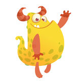 Vector il fumetto di un mostro grasso e lanuginoso arancio di Halloween royalty illustrazione gratis